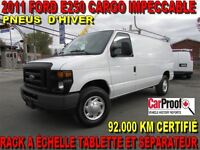 2011 Ford E-250 CARGO 92.000 KM RACK A ÉCHELLE TABLETTE