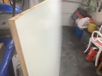 Mdf large white coated board length 280 cm x 124 cm wide x 1 inch thick