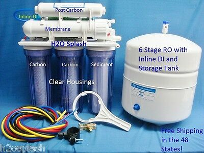 6 Stage RO+DI with tank/Reverse Osmosis System 80 GPD Water Filter/Aquarium