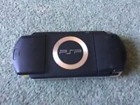 Sony PSP handheld console (1000 Value Pack Black) - untested so for parts/repair