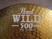 pearl wild 500 14inch high hat cymbals
