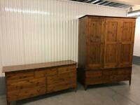 Warren Evans three door wardrobe and matching dresser, great condition, can deliver