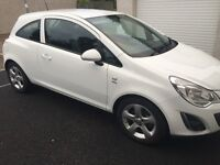 Vauxhall Corsa Active 1.2 White 2012 (SY12) 3Dr with very low mileage