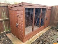 Dog Run with Kennel