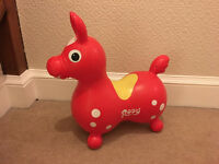 Red Rody inflatable horse - great condition!