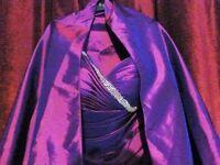 Unworn Purple Prom Evening Ball Gown formal Dress size 14