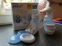 AVENT PHILIPS MANUAL BREAST PUMP NEW WITH ACCESORIES , BIG SET