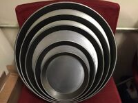 """7"""" IRON BLACK NEW PIZZA PAN (MORE SIZE ) CATERING COMMERCIAL FAST FOOD RESTAURANT TAKE AWAY SHOP"""