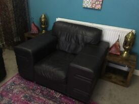 Brown 3 piece sofa