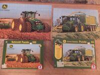 2 x John Deere Tractor Jigsaw Puzzles. Like New