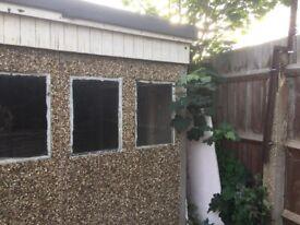 Concrete stone shed 3.15x3.85x2.18m