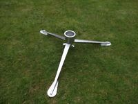 Fiamma metal table tripod and table leg (for use with tables fitted with a fiamma conic base)