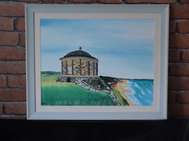 oil painting of mussenden temple