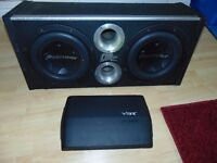 2xPioneer TS-W3004SPL in vibe box and vibe A7 amp