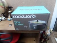 Cookworks Slow Cooker 6.5L - Brand new, never used