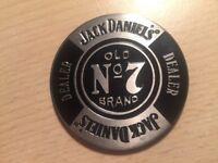 Jack Daniels Embossed Metal Poker Dealer's Chip