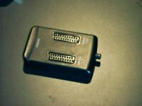 SCART SPLITTER BOX, 2 OR 3 WAY FOR TV, VIDEO, DVD. NEW CONDITION