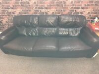 Large leather brown couch in reasonable condition, a few marks please see photos.