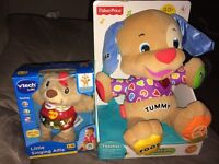 Fisher Price laugh n learn puppy and VTech singing Alfie