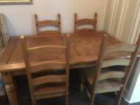 PINE TABLE AND 4 CHAIRS £30 no offers