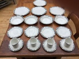 Crown Dynasty Dinner set. Floral decorative pattern.
