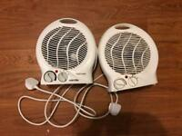 Pair of desk heaters