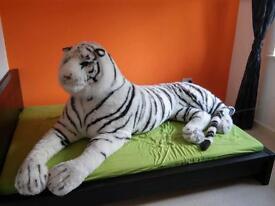 Live size tiger plush toy