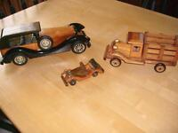WOODEN CARS/TRUCKS