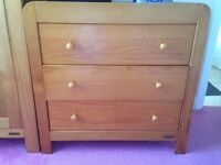 Mamas and papas wardrobe and baby changer/chest of drawers