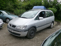 2003 Vauxhall Zafira Design DTI 16v Diesel -Runs&Drives-MOT Till Nov' -Spares or Repairs,Parts Donor