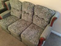 Small 3 seater sofa & arm chair