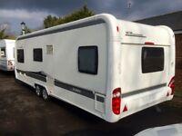 Hobby Caravan 645 Vip Collection (2012) Premium Model Interior With Full Awning. Like Tabbert/Fendt