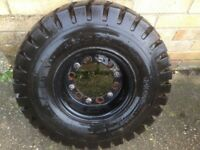 Forklift Wheel + Tyre 6.50 x 10 NHS 10 Ply Very good condition