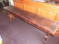 Hand Carved Rustic Wooden Table –Possibly Oak