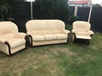 Rossini Italian leather sofa suite recliner chair can deliver