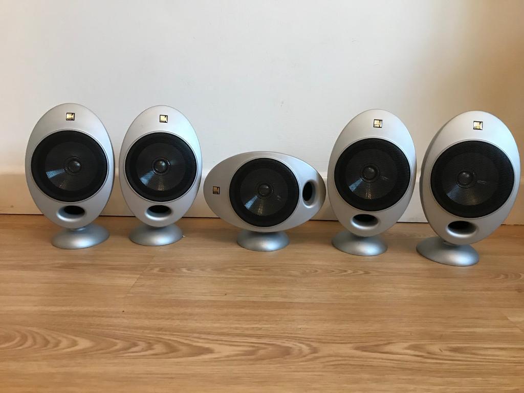 5 kef 2005.2 surround sound speakers
