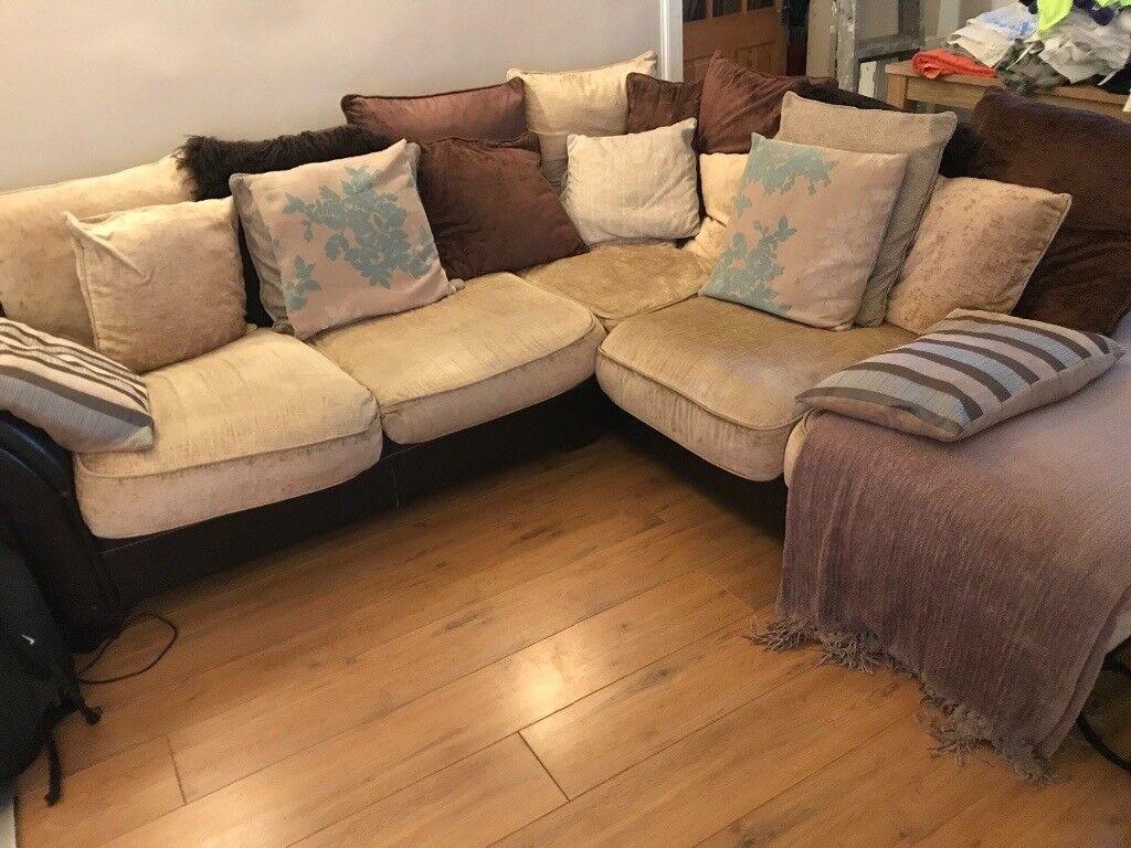 Dfs Cream Chenille Sofa