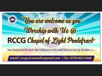 RCCG Chapel of Light - a place of fellowship, friendship and fun with food available