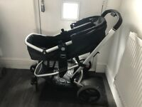 4 wheeler mother care pram suitable from birth