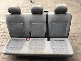 T5/ T4 triple folding rear seat with belts.