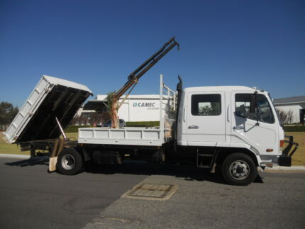 Mitsubishi 5 Ton Dualcab Tipper with Crane Welshpool Canning Area Preview