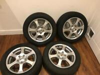 Alloy wheels with winter tyres VAG fit 205/55/16