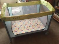 Mothercare travel cot plus kidtex mattress