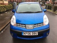 Automatic 2006 Nissan Note 1.6 Petrol 12 Months MOT 106000 Genuine Low Mileage Full Service History