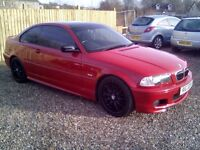 BMW 325 CI, FULL MOT, LOW MILES, (credit,debit cards accepted)