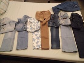 BUNDLE OF H&M JEANS,CLOTHES