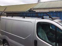 Rhino Modular Roof Rack - van, full length, good condition - VAUXHALL VIVARO PRIMASTAR