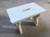 White wooden stol