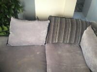 Grey L shaped sofa for sale