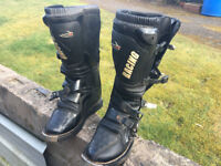 leather motocross boots